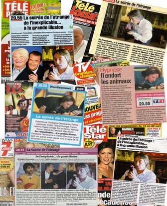Journaux TV divers de Jean-Charles Dupet Hypnotiseur